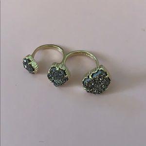 Jewelry - Kendra Scott double gold stone ring